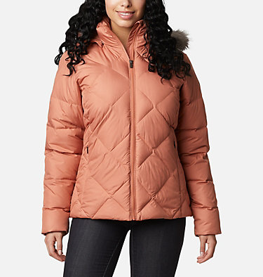 Icy Heights™ II Daunenjacke für Damen Icy Heights™ II Down Jacket | 011 | XS, Nova Pink, front
