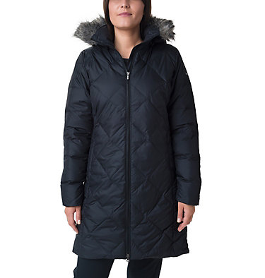 Icy Heights™ II Mid Length Daunenjacke für Damen Icy Heights™ II Mid Length Dow | 010 | L, Black, front