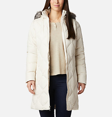 Icy Heights™ II Mid Length Daunenjacke für Damen Icy Heights™ II Mid Length Dow | 010 | L, Chalk, front