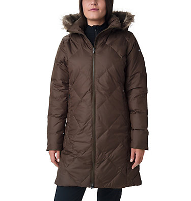 Icy Heights™ II Mid Length Daunenjacke für Damen Icy Heights™ II Mid Length Dow | 010 | L, Olive Green, front