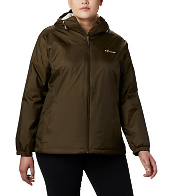 Women's Switchback™ Sherpa Lined Jacket - Plus Size Switchback™ Sherpa Lined Jacket | 410 | 3X, Olive Green, front