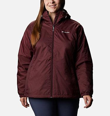 Women's Switchback™ Sherpa Lined Jacket - Plus Size Switchback™ Sherpa Lined Jacket | 410 | 3X, Malbec, front