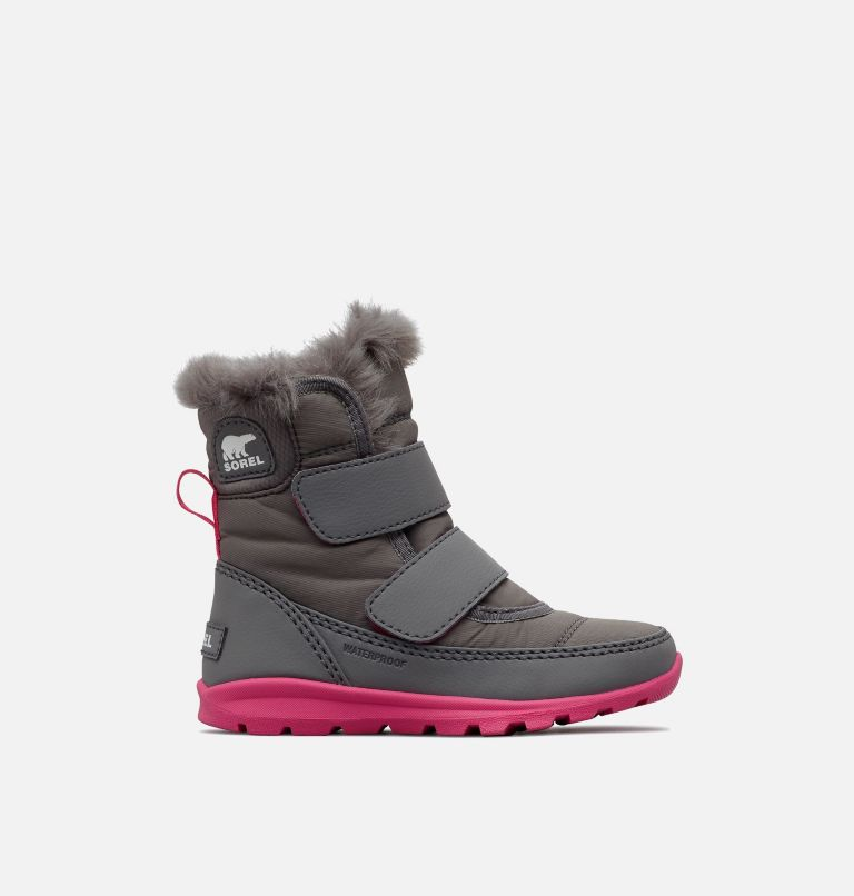 TODDLER WHITNEY™ STRAP | 052 | 5 Toddler's Whitney™ Strap Boot, Quarry, Ultra Pink, front