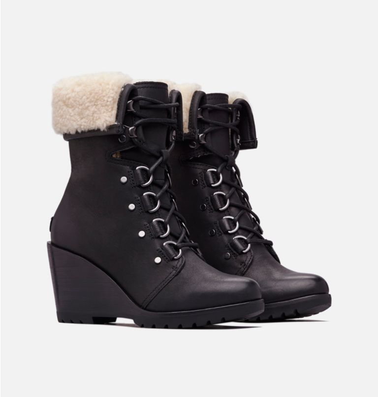 Women's After Hours™ Lace Shearling Boot Women's After Hours™ Lace Shearling Boot, 3/4 front