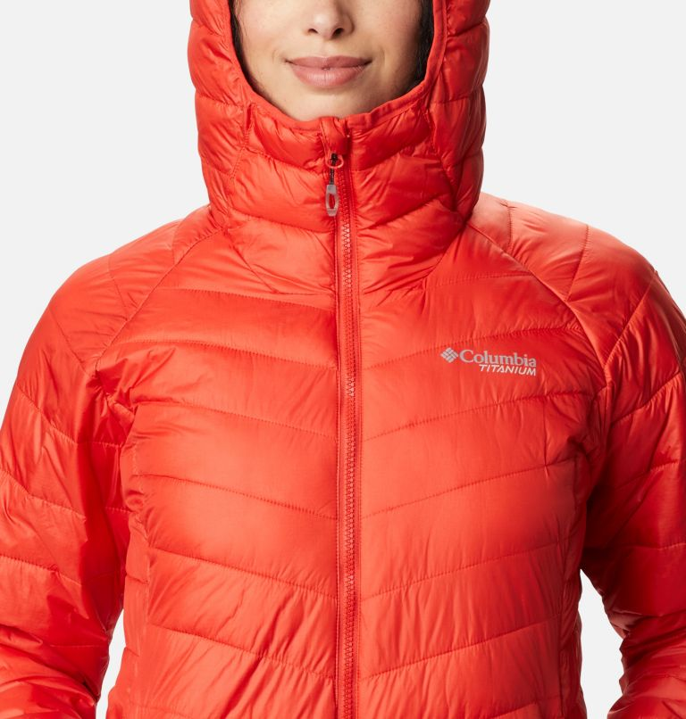 Snow Country™ Hooded Jacket | 843 | M Women's Snow Country™ Hooded Jacket, Bold Orange, a2