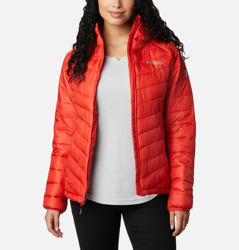Snow Country™ Hooded Jacket | 843 | M Women's Snow Country™ Hooded Jacket, Bold Orange, front