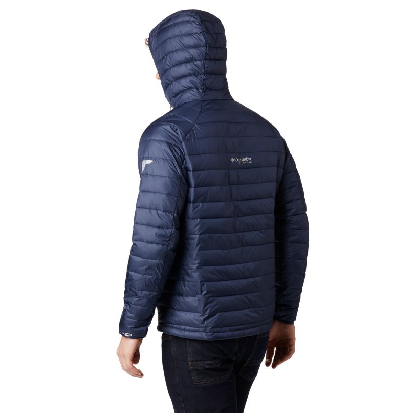 Snow Country™ Hooded Jacket   464   XL Men's Snow Country™ Hooded Jacket, Collegiate Navy, back