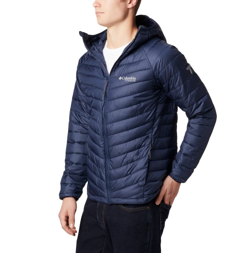 Snow Country™ Hooded Jacket   464   XL Men's Snow Country™ Hooded Jacket, Collegiate Navy, front