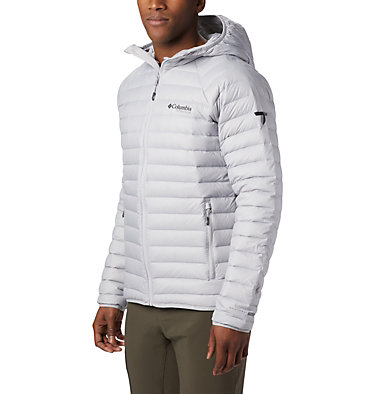 Men's Alpha Trail™ Hooded Down Jacket Alpha Trail™ Down Hooded Jacke | 463 | L, Slate Grey, front