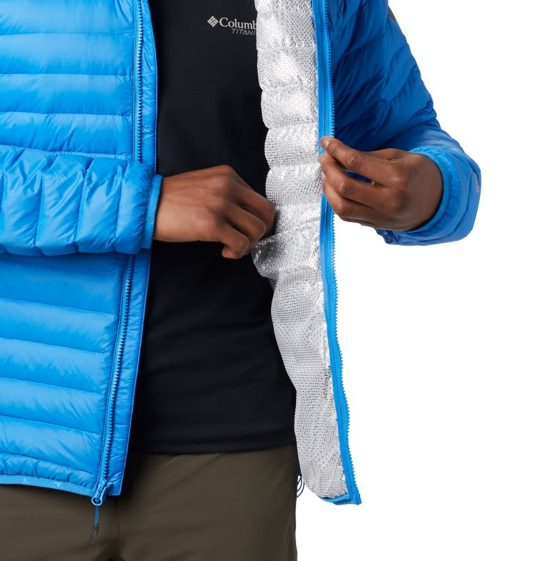 Alpha Trail™ Down Hooded Jacke | 463 | S Men's Alpha Trail™ Hooded Down Jacket, Azure Blue, a2