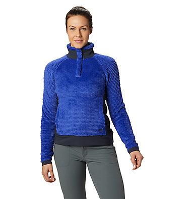 Women's Polartec® High Loft™ Pullover Monkey Woman™ Fleece Pullover   516   L, Blue Print, front