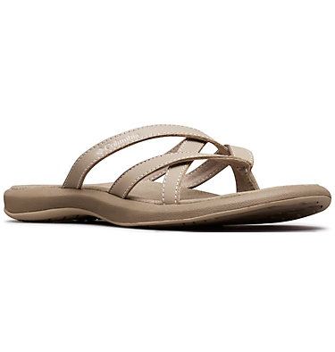 Women's Kambi™ II Flip Flop KAMBI™ II | 366 | 10, Silver Sage, Fawn, 3/4 front