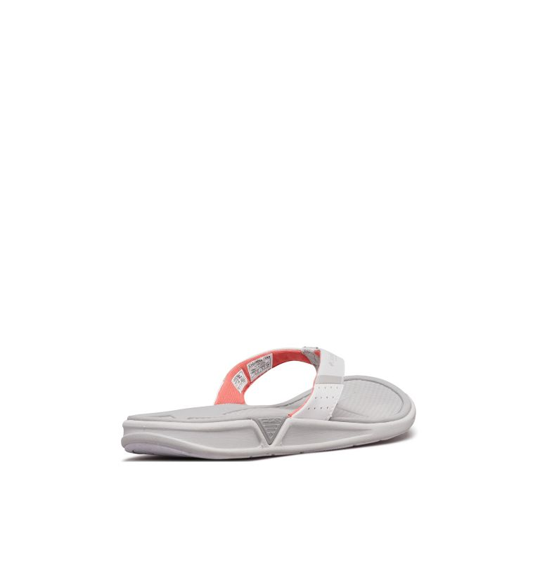 ROSTRA™ PFG | 063 | 6 Women's Rostra™ PFG Sandal, Grey Ice, Red Coral, 3/4 back