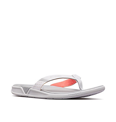 Sandales tong PFG Rostra™ pour femme ROSTRA™ PFG | 063 | 10, Grey Ice, Red Coral, 3/4 front