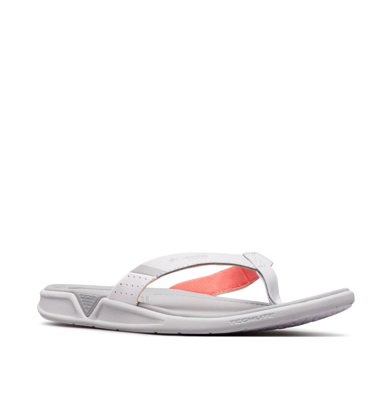 ROSTRA™ PFG | 063 | 9 Women's Rostra™ PFG Sandal, Grey Ice, Red Coral, 3/4 front