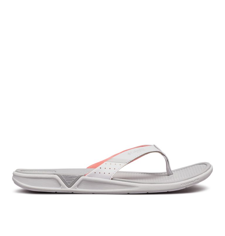 ROSTRA™ PFG | 063 | 9 Women's Rostra™ PFG Sandal, Grey Ice, Red Coral, front