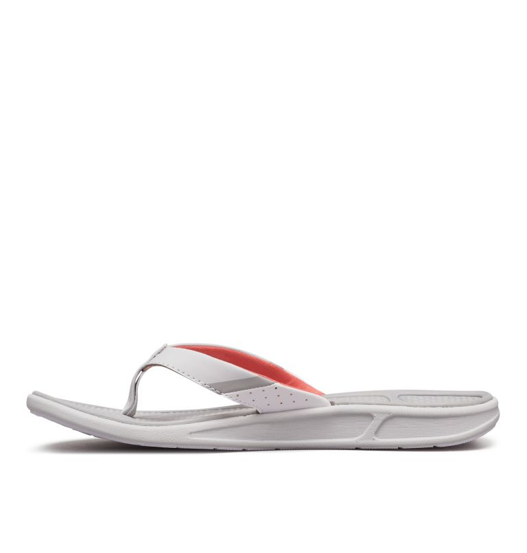 ROSTRA™ PFG | 063 | 9 Women's Rostra™ PFG Sandal, Grey Ice, Red Coral, medial