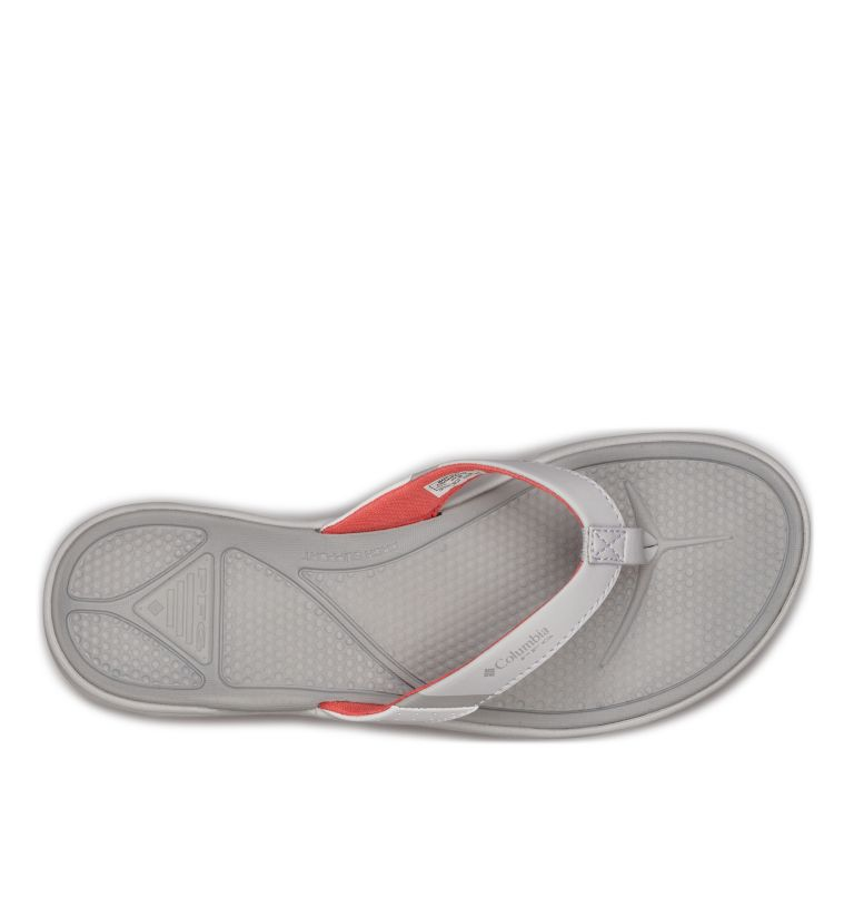 ROSTRA™ PFG | 063 | 6 Women's Rostra™ PFG Sandal, Grey Ice, Red Coral, top