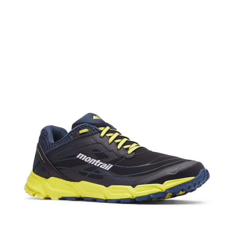 CALDORADO™ III | 010 | 13 Men's Caldorado™ III Trail Running Shoe, Black, Acid Yellow, 3/4 front