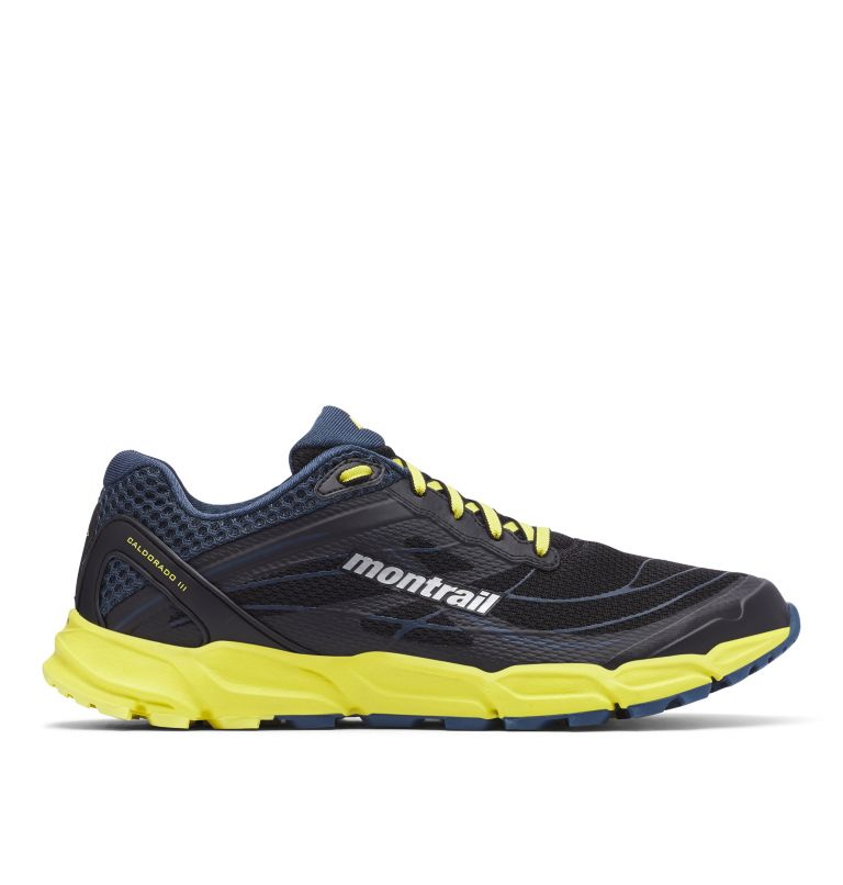 CALDORADO™ III | 010 | 13 Men's Caldorado™ III Trail Running Shoe, Black, Acid Yellow, front