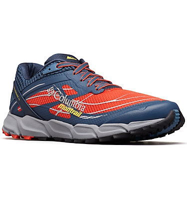 Men's Caldorado™ III Trail Running Shoe CALDORADO™ III | 010 | 15, Red Quartz, Acid Yellow, 3/4 front