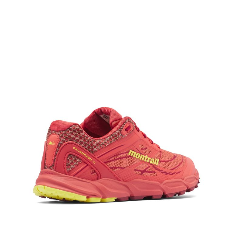 CALDORADO™ III | 852 | 8.5 Chaussures De Trail Running Caldorado™ III Femme, Faded Peach, Acid Yellow, 3/4 back