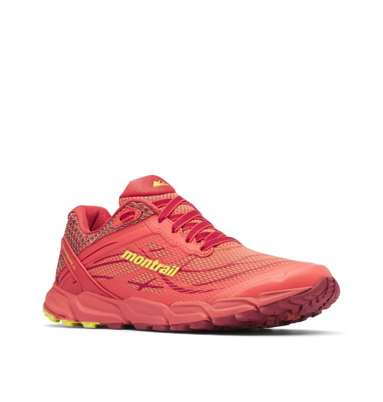 CALDORADO™ III | 852 | 8.5 Chaussures De Trail Running Caldorado™ III Femme, Faded Peach, Acid Yellow, 3/4 front