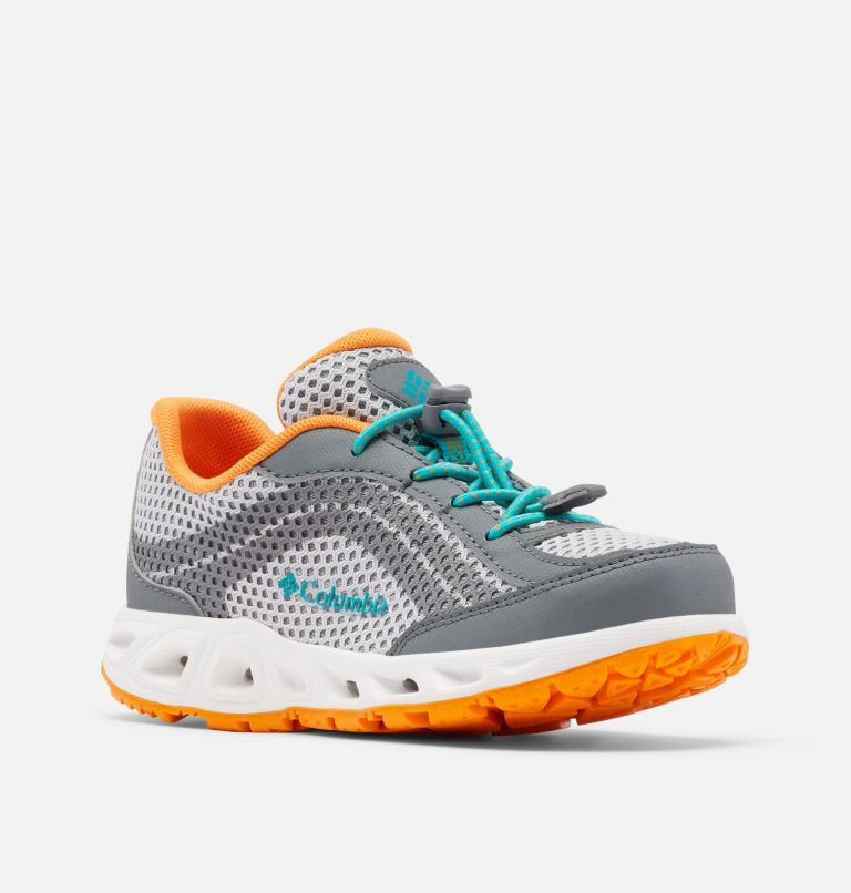 YOUTH DRAINMAKER™ IV   063   2 Big Kids' Drainmaker™ IV Water Shoe, Grey Ice, Tropic Water, 3/4 front