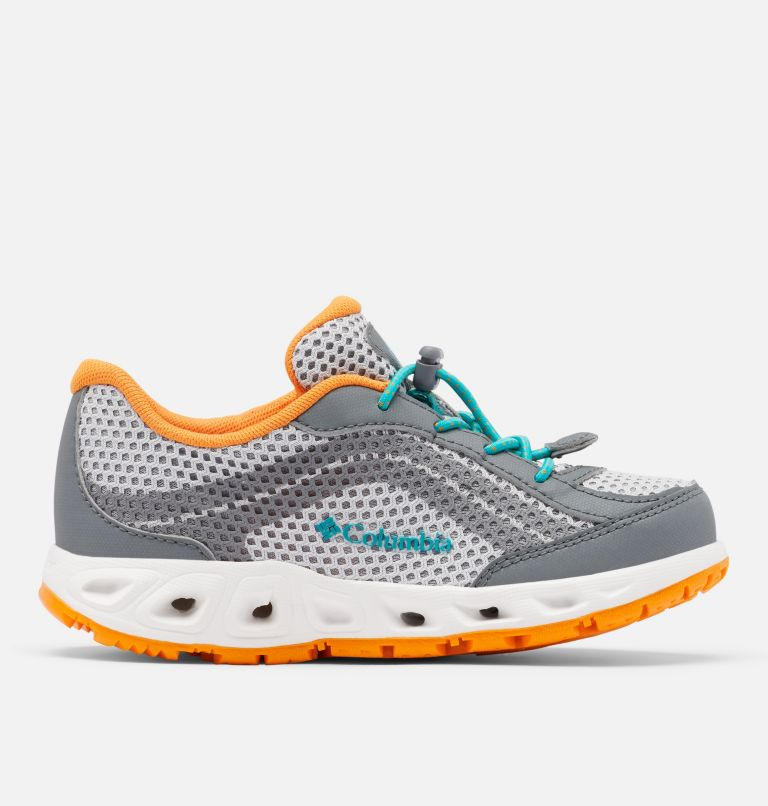YOUTH DRAINMAKER™ IV   063   2 Big Kids' Drainmaker™ IV Water Shoe, Grey Ice, Tropic Water, front