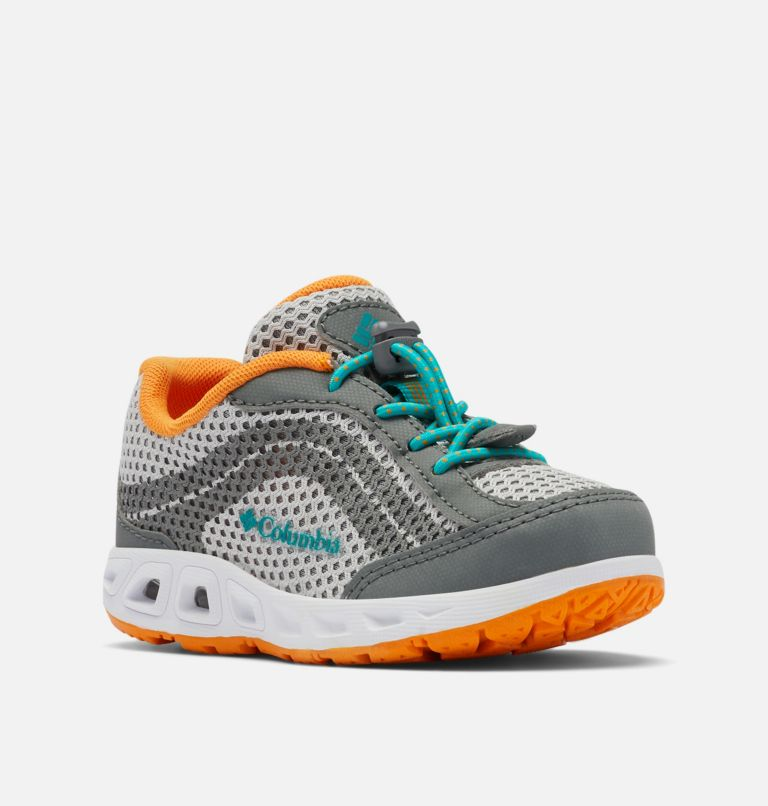 CHILDRENS DRAINMAKER™ IV   063   8 Little Kids' Drainmaker™ IV Water Shoe, Grey Ice, Tropic Water, 3/4 front