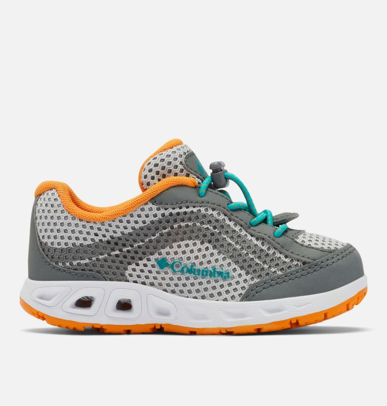 CHILDRENS DRAINMAKER™ IV   063   8 Little Kids' Drainmaker™ IV Water Shoe, Grey Ice, Tropic Water, front