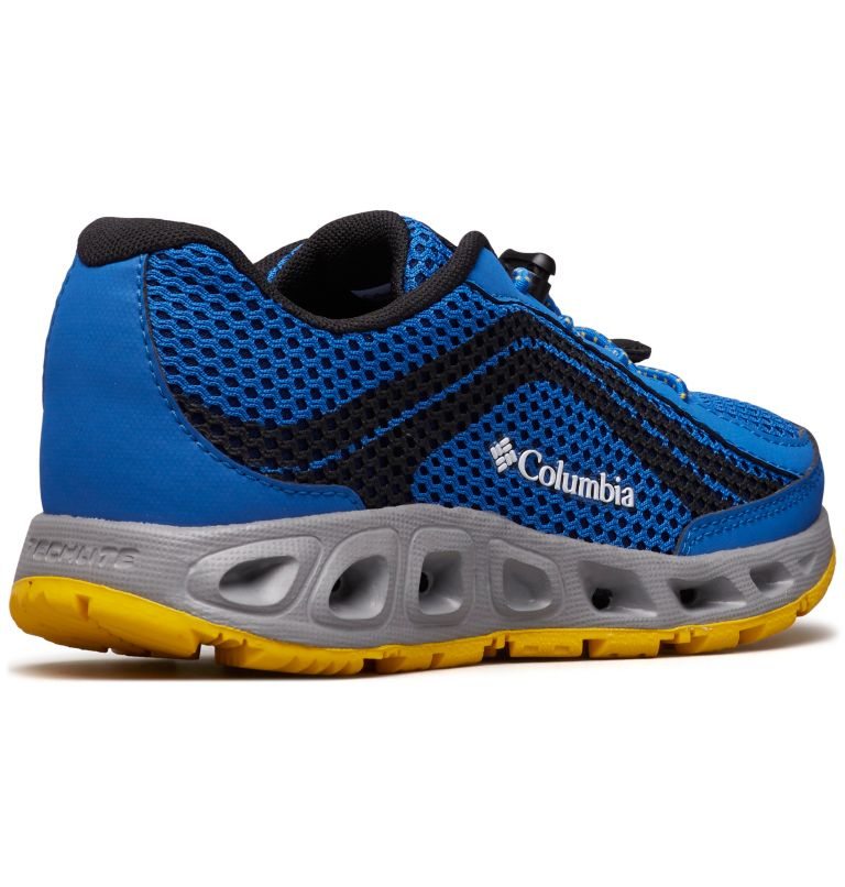 CHILDRENS DRAINMAKER™ IV | 426 | 13 Chaussures Drainmaker™ IV Enfant, Stormy Blue, Deep Yellow, 3/4 back