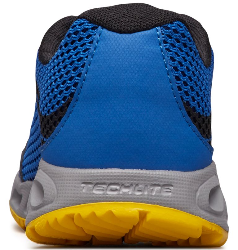 CHILDRENS DRAINMAKER™ IV | 426 | 13 Chaussures Drainmaker™ IV Enfant, Stormy Blue, Deep Yellow, back