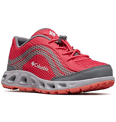 Kids' Drainmaker™ IV Shoe CHILDRENS DRAINMAKER™ IV | 600 | 8, Bright Rose, Hot Coral, 3/4 front