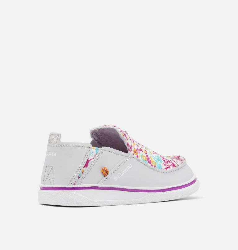 YOUTH BAHAMA™ PFG | 064 | 3 Big Kids' Bahama™ PFG Shoe, Grey Ice, Bright Plum, 3/4 back