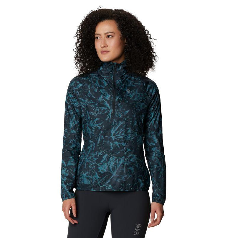 Kor Preshell™ Pullover | 006 | XS Women's Kor Preshell™ Pullover, Dark Storm Glitch Print, front
