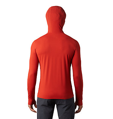 Men's Crater Lake™ Long Sleeve Hoody  Crater Lake™ Long Sleeve Hoody | 054 | L, Desert Red, back