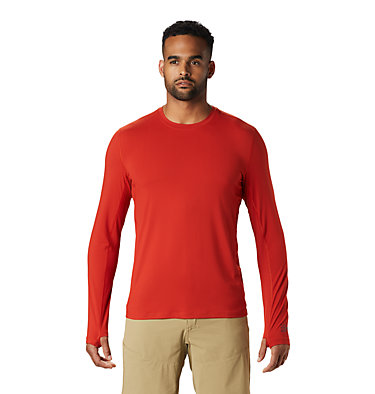 Men's Crater Lake™ Long Sleeve T-Shirt  Crater Lake™ Long Sleeve T | 452 | L, Desert Red, front