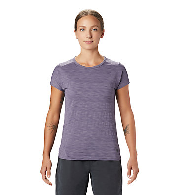 Women's Mighty Stripe™ Short Sleeve T-Shirt  Mighty Stripe™ Short Sleeve T | 447 | S, Dusted Sky, front
