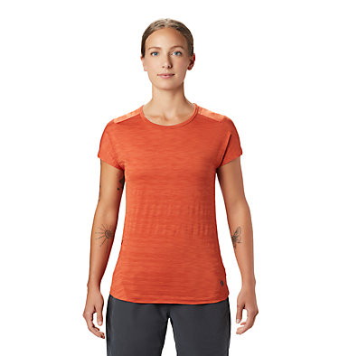 Women's Mighty Stripe™ Short Sleeve T-Shirt  Mighty Stripe™ Short Sleeve T | 447 | S, Dark Clay, front