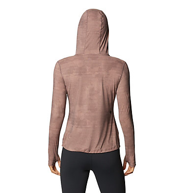 Women's Crater Lake™ LS Hoody Crater Lake™ LS Hoody | 057 | L, Warm Ash Woven Print, back