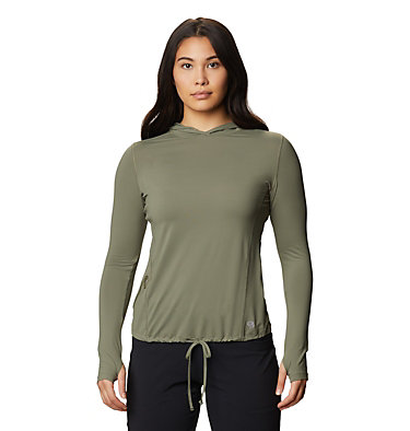 Women's Crater Lake™ LS Hoody Crater Lake™ LS Hoody   057   L, Light Army, front