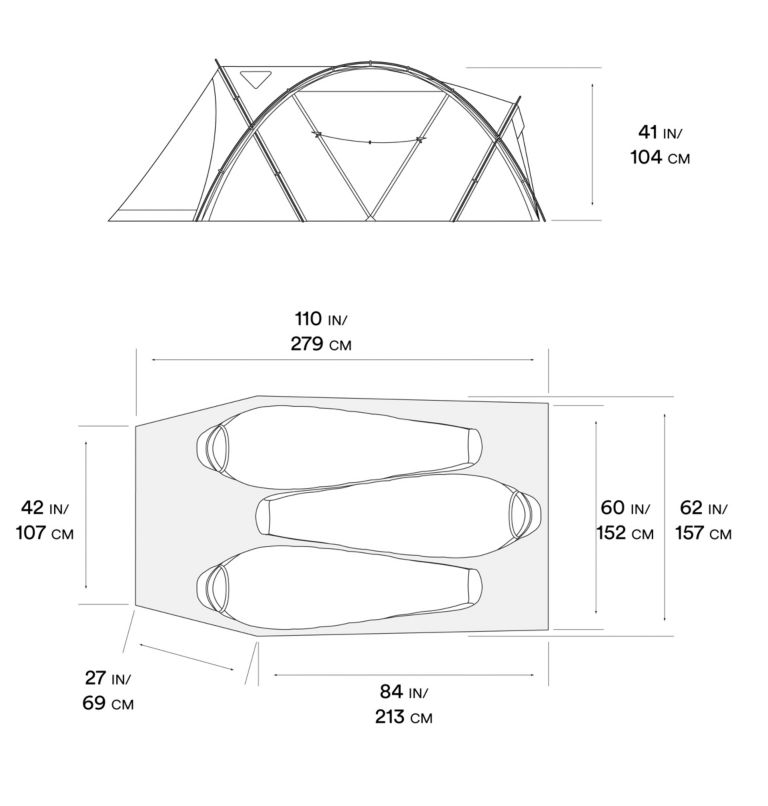 ACI™ 3 Tent | 675 | O/S ACI™ 3 Tent, Alpine Red, a10