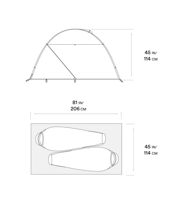 AC™ 2 Tent | 675 | O/S Tente AC™ 2, Alpine Red, a10
