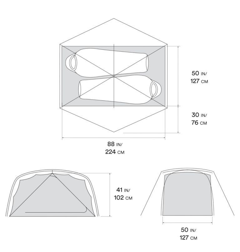 Aspect™ 2 Tent   063   O/S Aspect™ 2 Tent, Grey Ice, a10