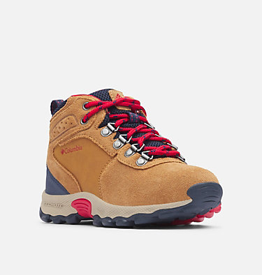 Big Kids' Newton Ridge™ Suede Boot YOUTH NEWTON RIDGE™ SUEDE | 286 | 1, Elk, Mountain Red, 3/4 front