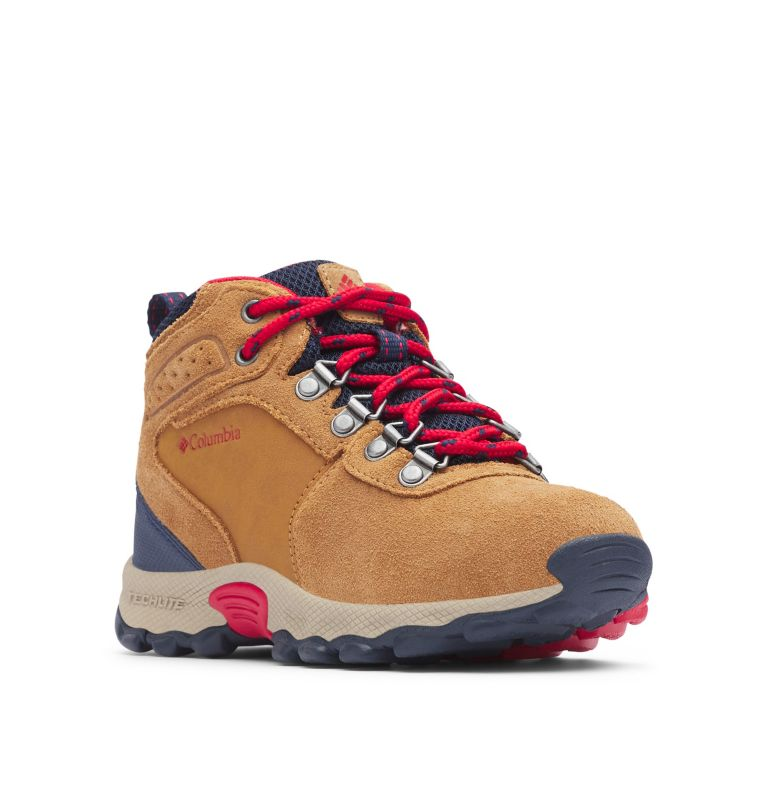 Big Kids' Newton Ridge™ Suede Waterproof Hiking Boot - Wide Big Kids' Newton Ridge™ Suede Waterproof Hiking Boot - Wide, 3/4 front