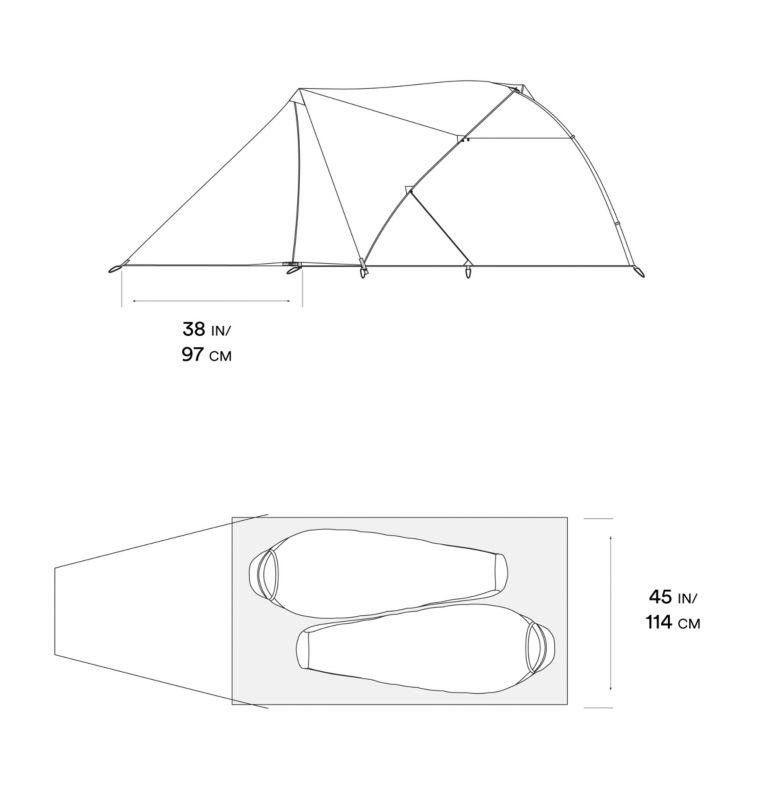 AC™ 2 Vestibule | 301 | O/S Tente Trango™ 2, Glacier Teal, a10
