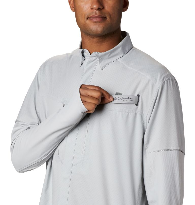 Men's PFG Force XII Zero™ Long Sleeve Hybrid Shirt Men's PFG Force XII Zero™ Long Sleeve Hybrid Shirt, a2