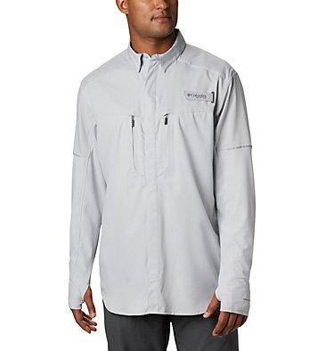 Men's PFG Force XII Zero™ Long Sleeve Hybrid Shirt Force XII ZERO™ LS Hybrid | 023 | L, Cool Grey, front